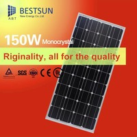 Hot Sales High efficiency monocrystalline 150w 18v solar panels for completive solar system