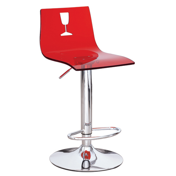 Acrylic swivel fashion bar chair