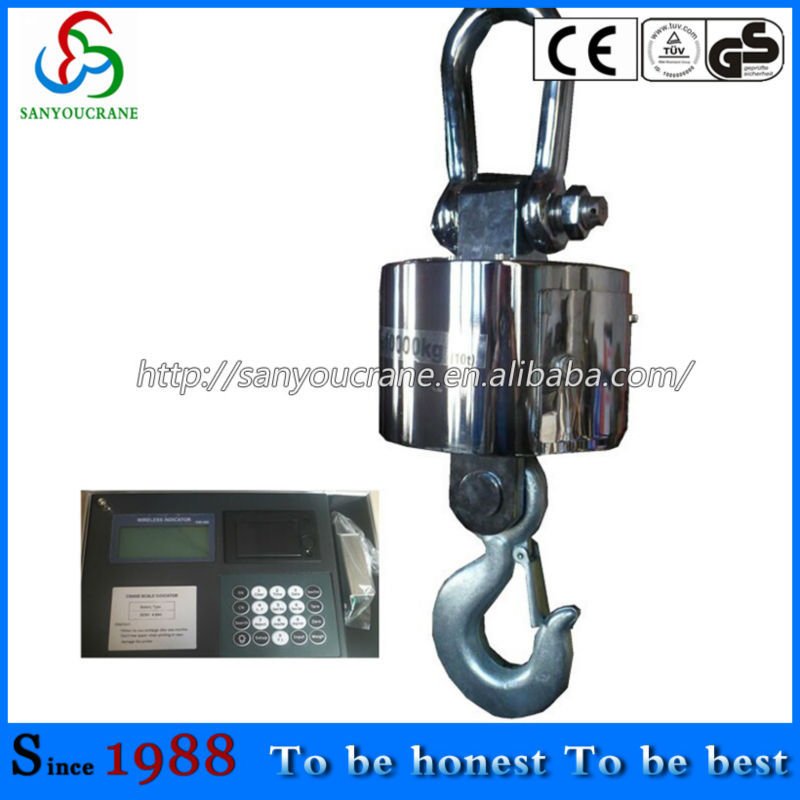 Scale manufacturing electric hoist weight machine
