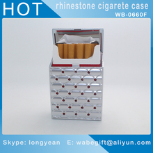 Hot fancy beautifully surface rhinestone cigarette case 20pcs king size