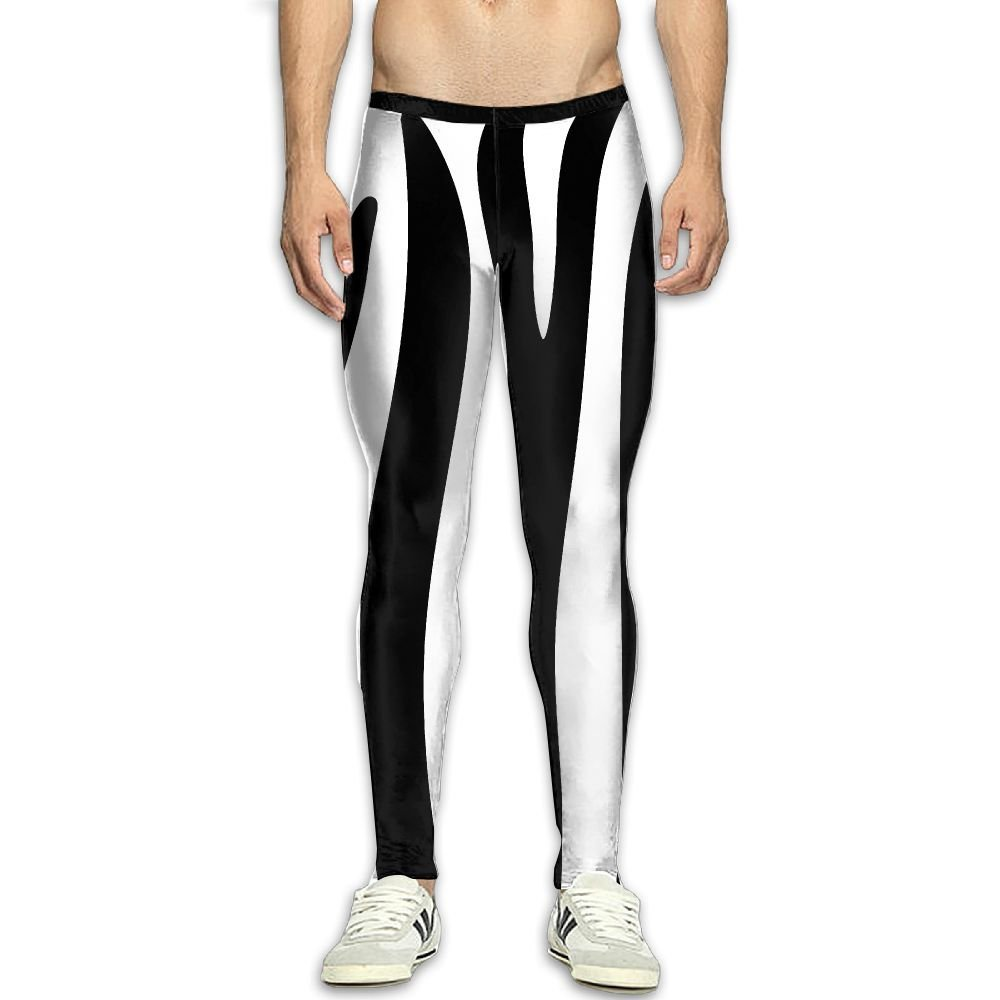 938d5e5cdcc Get Quotations · Compression Pants Black White Stripe Leopard Leggings  Tights Bodybuilding Long Sports Workout Yoga GYM Running Fitness