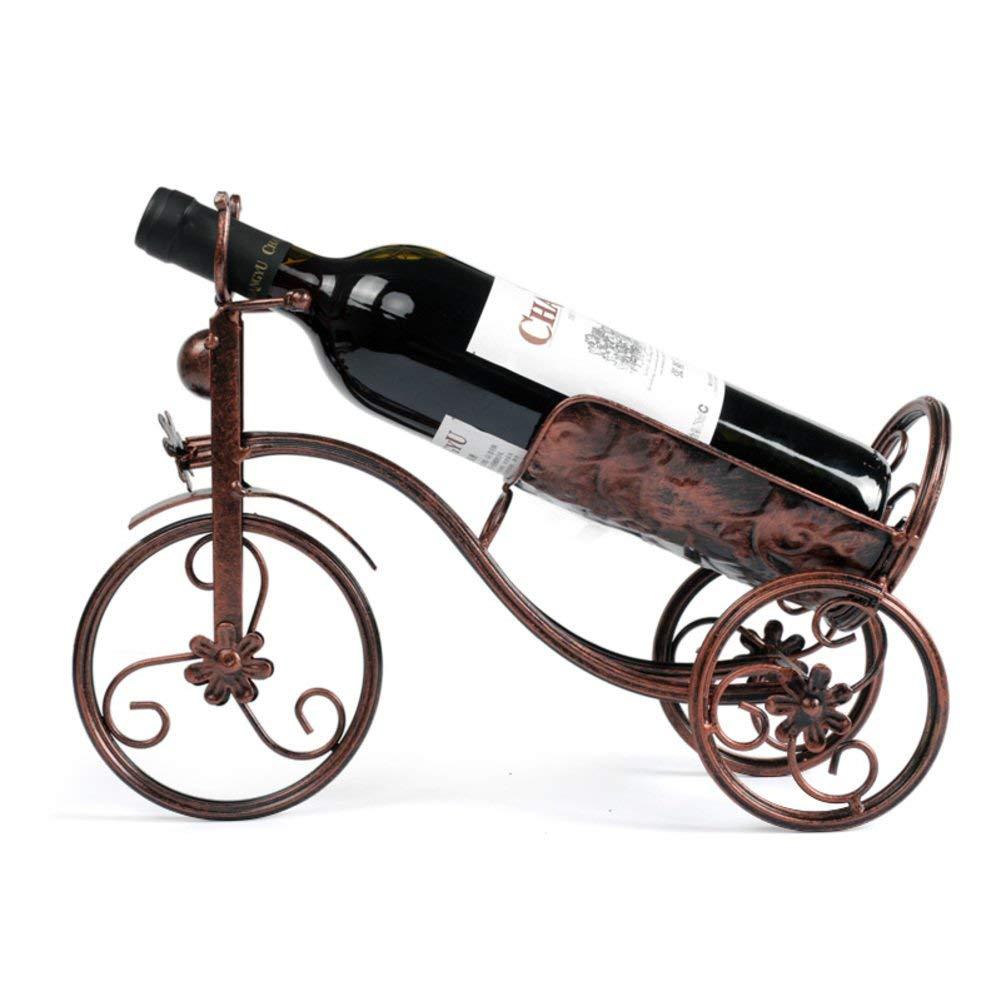 TY&WJ European style Creative Wine bottle holder [household] [decoration] Wine shelf Wine rack Bar pub [restaurant] Decoration Wine display Gift-Bronze
