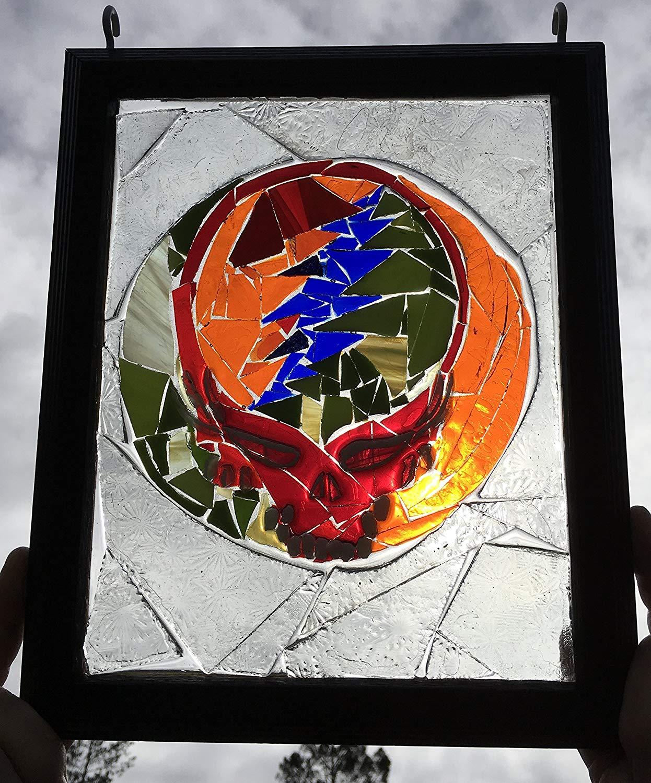 Steelie Grateful Dead Stained Glass suncatcher Window Art