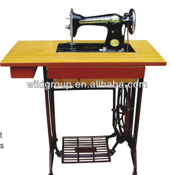 JA1 1 Sanger Treadle Sewing Machine With 2 Drawer Table And Stand