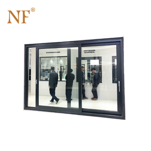 glass sliding security steel doors