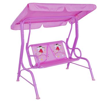 Outdoor / Indoor 2 Seater Hanging Swing Chair For Kids