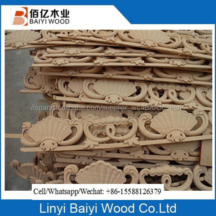 Muebles decorativos de madera recortar molduras de corona - Molduras de madera decorativas ...