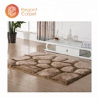 polyester Chinese handmade tufted 3d pattern rugs shaggy carpets designs