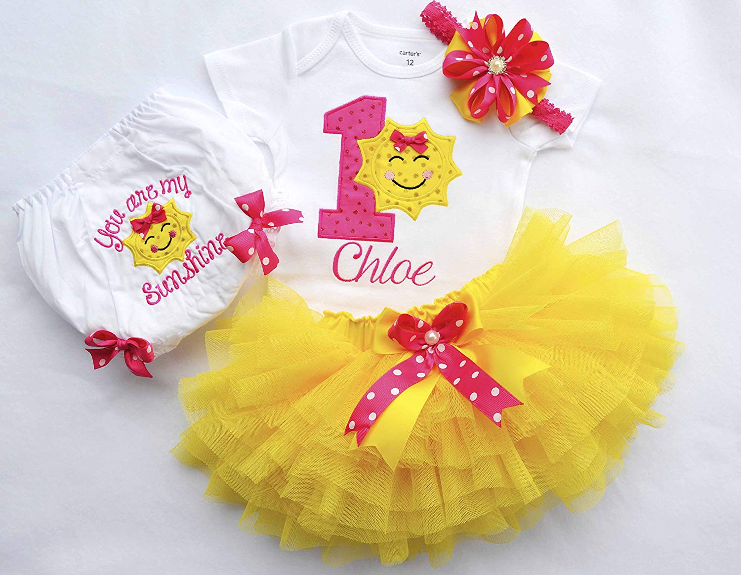 291667cc4 Get Quotations · You are my sunshine outfit,First birthday outfit girl,Sunshine  Birthday Outfit,Girls
