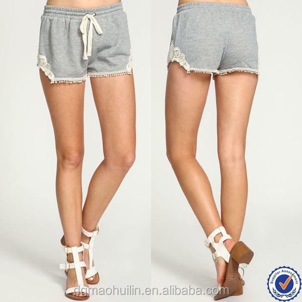 Wholesale Alibaba Cheap Grey Crochet Running Shorts Women Athletic ...