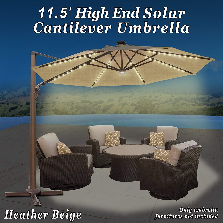 Get Quotations · Strong Camel 11.5u0027 Deluxe Cantilever Big Roma Umbrella  Hanging Offset Solar Umbrella UV50+ Tilt U0026
