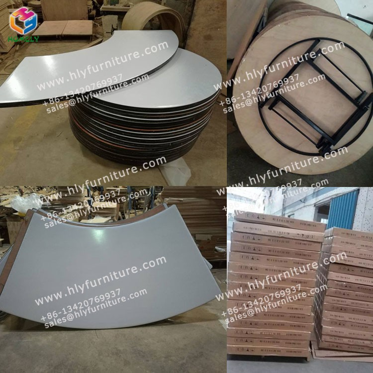 Cafe round folding hotel buffet table for hotel