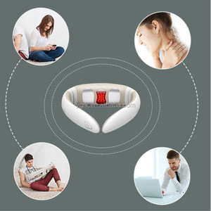 Factory offer electric u shape neck massager TENS massager with led heating looking for distributors