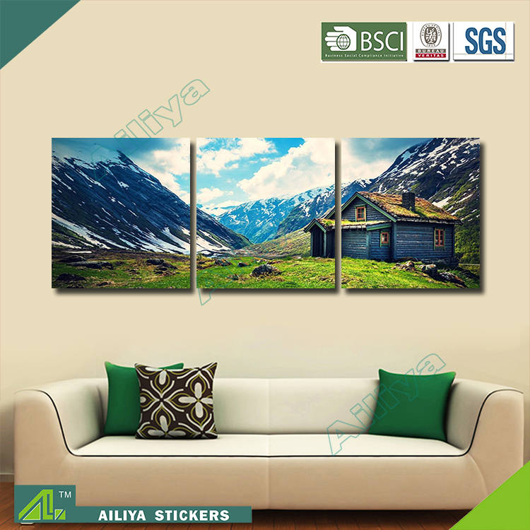 Home decor hotel wall art diy modern three panel dream world painting