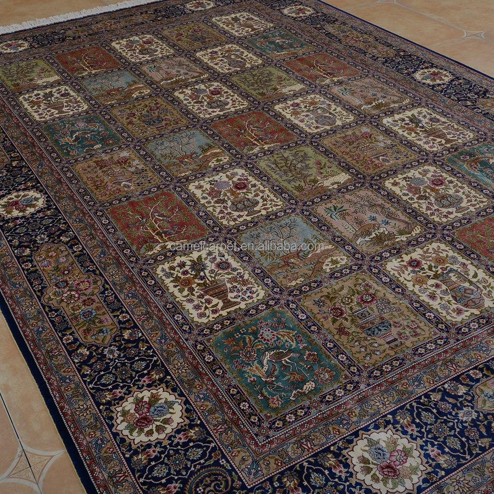grand tapis de soie la main oriental 200x300 cm duba tapis persan - Tapis 200x300