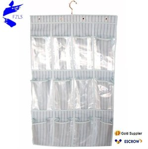 Wall Plastic Fabric Pocket Hanging Organizer