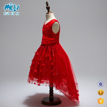 Clothing Fatory In China Latest Formal Dress Patterns Girls Red Lace