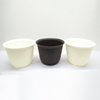 Environmental top quality outdoor garden balcony mini flowers pots round plasti garden flower pot supplier