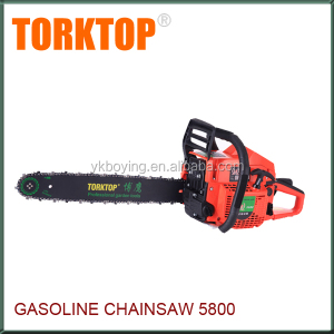 Chinese gasoline cheap chainsaw for 5800 saw chain with chain and bar