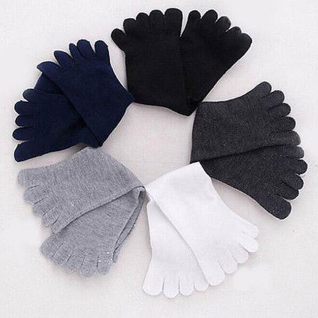 AM/_ 1 PAIR MEN/'S WINTER WARM THERMAL CASUAL SPORTS SOFT TOE SOCKS FINGERSOCKS OR