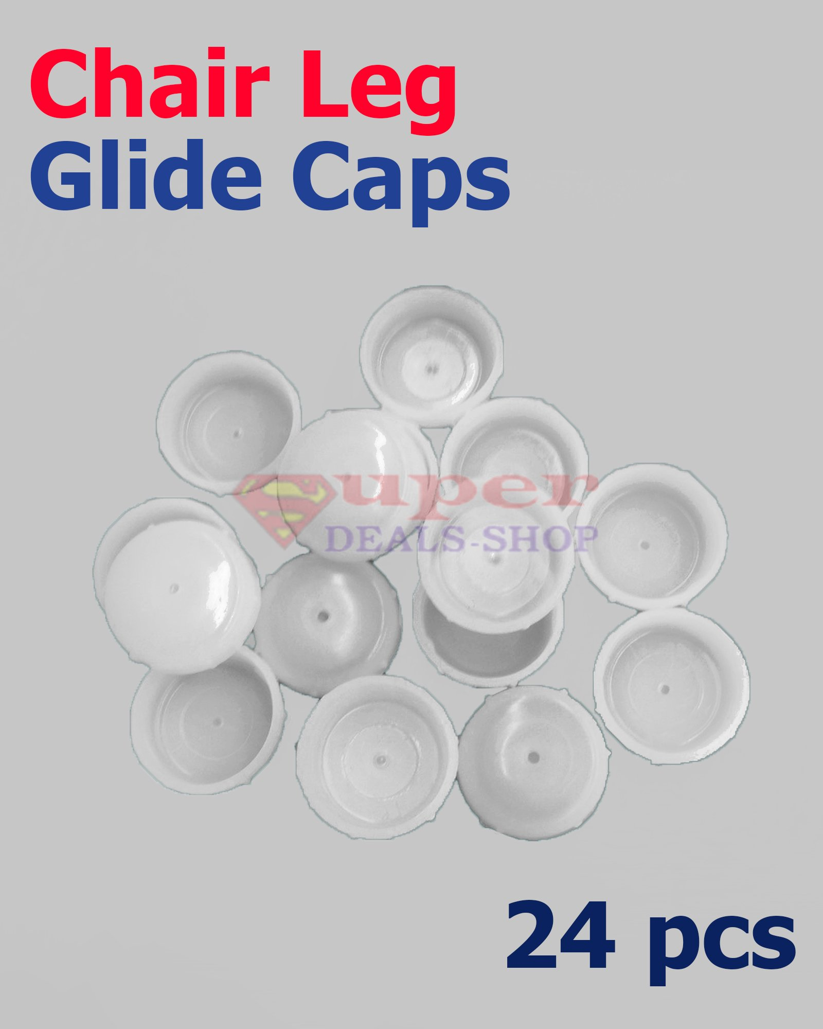 Get Quotations 24 Pcs 1 5 White Plastic Snap On Chair Table Leg Insert Pads