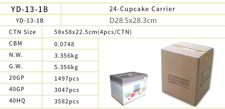 Cake Carrier & Server- Portable Locking Pretension Storage Container Box, Cupcake Carrier Case