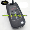 Competitive price car key hyundai remote key case with horn button and silver trim for hyundai flip key shell