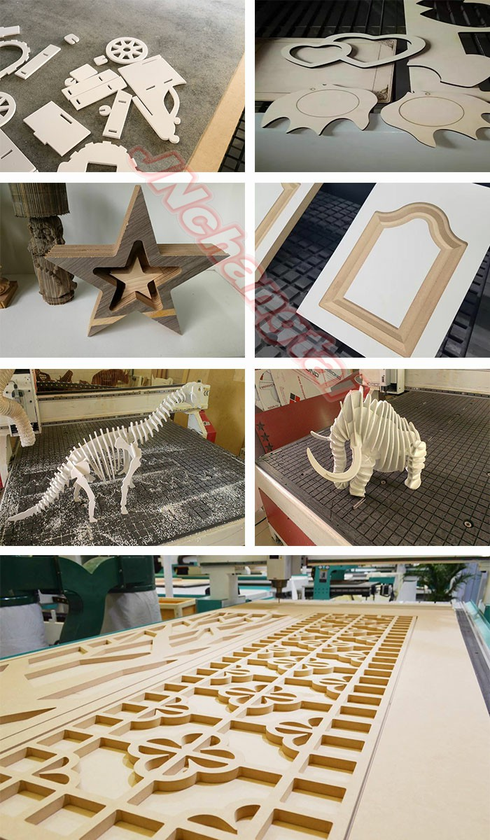 Wood cutting woodworking machine price cnc router with 3kw water cooling spindle