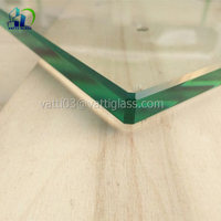 high quality 3-19mm chamfer edge glass flat edge polished clear tempered glass price