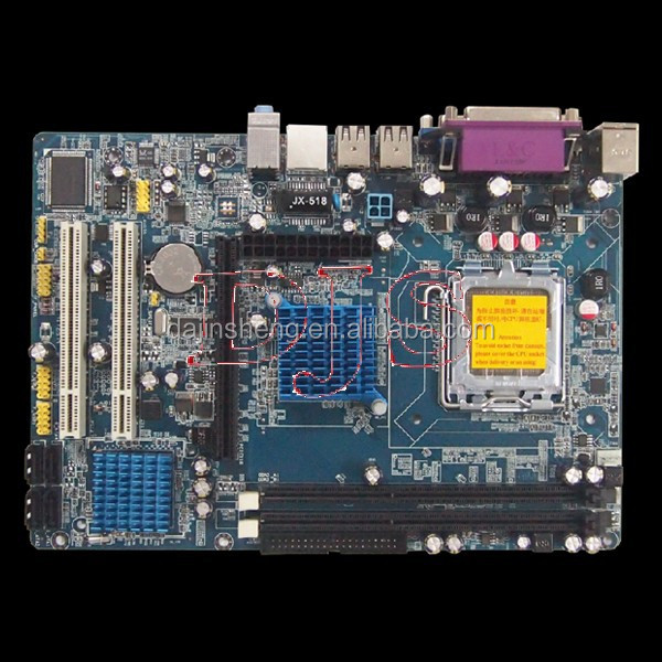 High Performance DDR3 775-G41 motherboard with onboard cpu