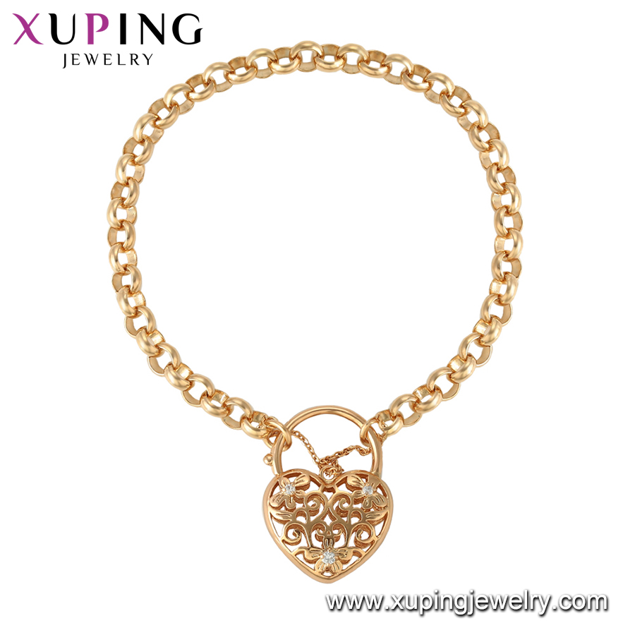 75229 Xuping  Jewelry 18K Gold Plated Charm Bracelet for Women