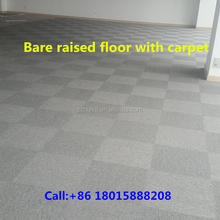 Carpet tiles covering on the raised access floor