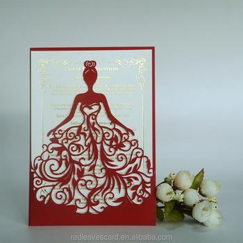 china supplier modern design d printing wedding invitation card, invitation samples