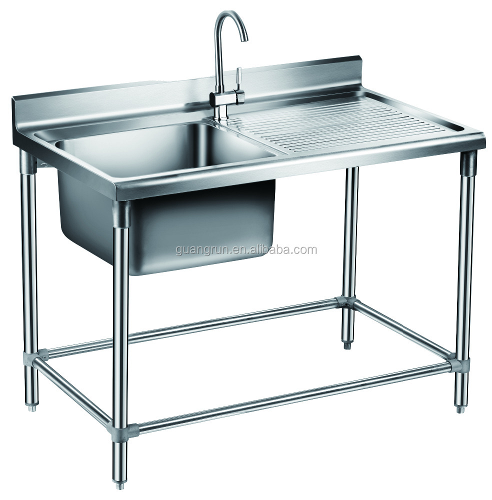 Free-standing Commercial Stainless Steel Kitchen Sink Gr-303b - Buy ...