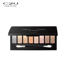 C2U 8 kleuren make-up <span class=keywords><strong>palet</strong></span> private label glitter custom eyeshadow palette