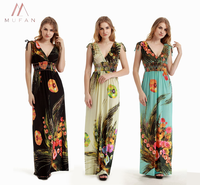 Women Colorful Printing Summer Seaside High quality Elegant travel essentials Dresses