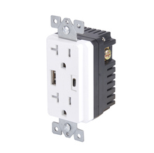 2.1A 4A ETL approval USB wall socket Embedded core USA CANADA standard with 2 USB port and 2 electrical outlet