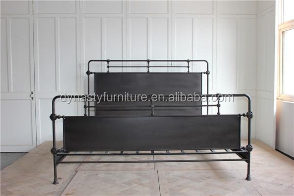 Estilo Industrial Muebles Vintage Queen Cama De Hierro Forjado - Buy ...