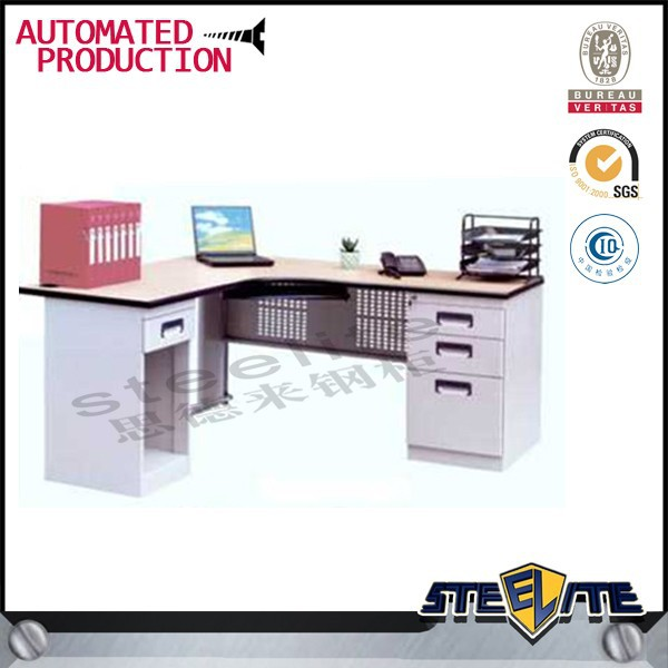 Cheap Iron Office Desk with Front Metal Panel