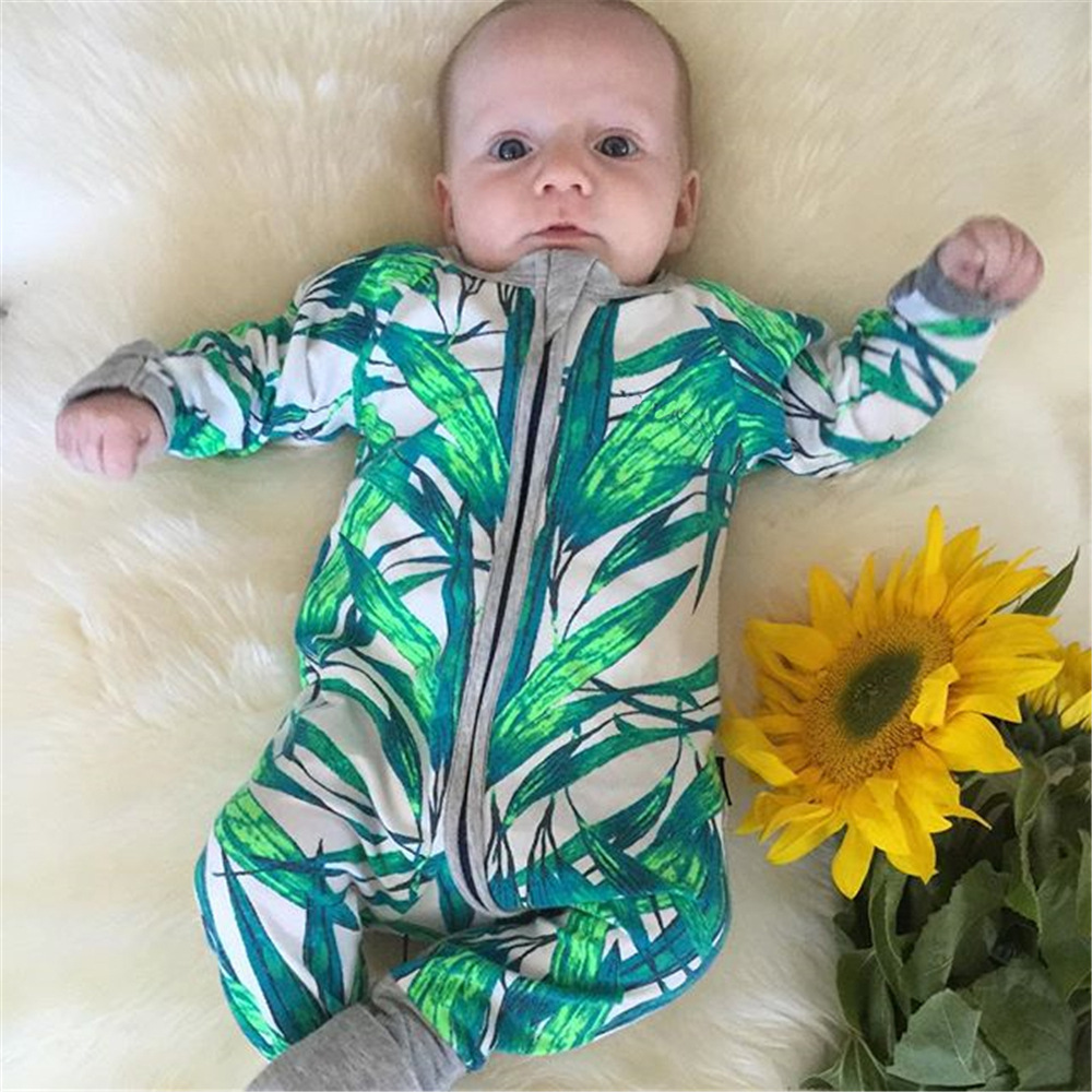 Baby poem high quality spring autumn combed cotton two way zipper mitten cuffs footed baby romper фото