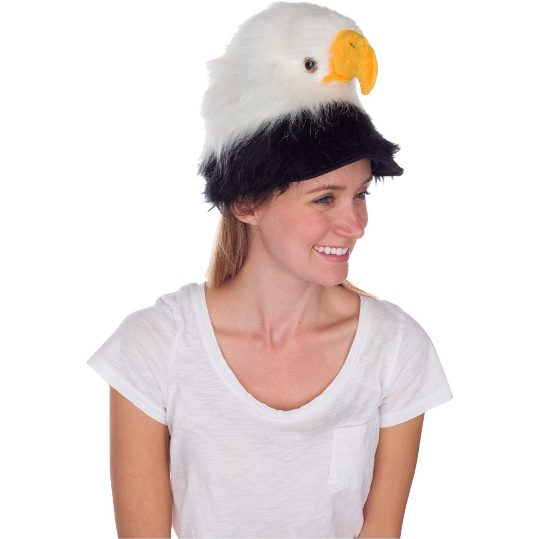 Bald Eagle Animal Hat, Realistic Plush Bird Costume Headwear - One Size