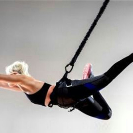 Alibaba.com / 110kg  Bungee Dance Pull Rope Fitness equipment Aerial Yoga Cord Pilates Elastic Suspension Sling Trainer