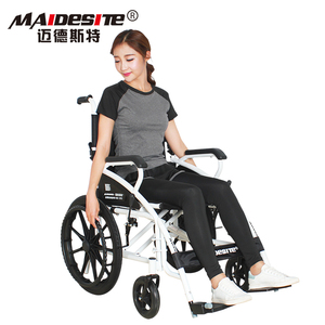 Best selling steel frame handicapped used foldable manual wheelchair