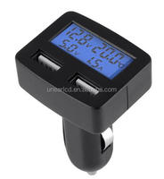 customized car usb charger volt instrument display lcd display UNLCD70159