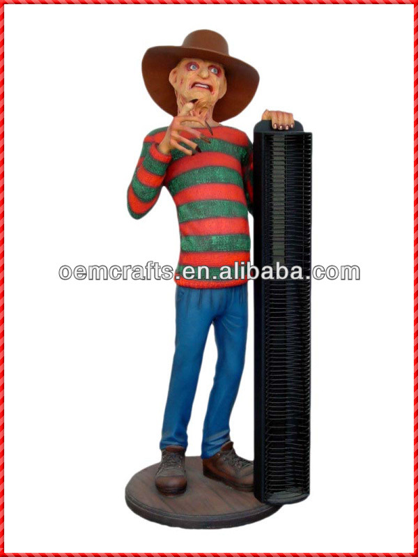 Decorative custom handmade Freddy Krueger CD racks