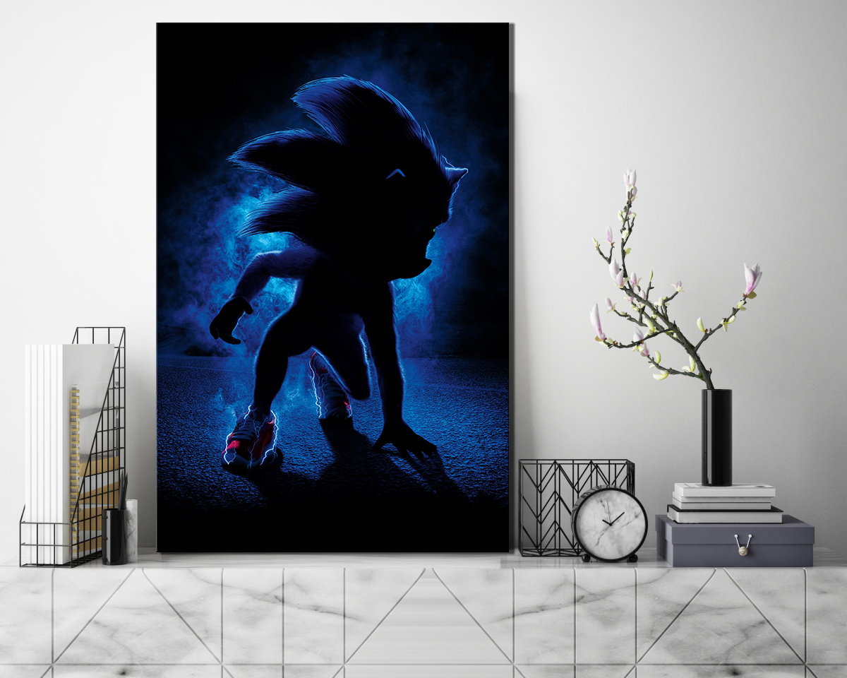 sonic the hedgehog movie poster landscape