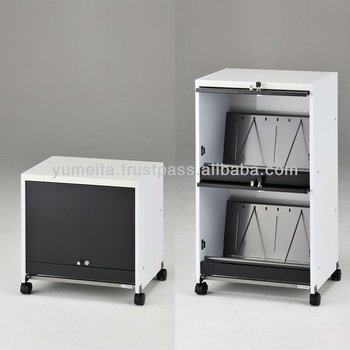 Japanese High-Quality Office Supply Furniture Cabinet Rack Cart with Door Lock