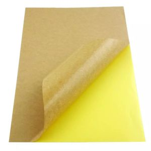 kraft paper label A4 sheet 50 per bag address/shipping label carton stickers