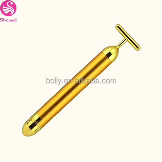 Hot selling 24K Gold Face Skin Massage, Wholesale price, Electric Energy Beauty Bar, Wrinkle Treatment Firming Facial