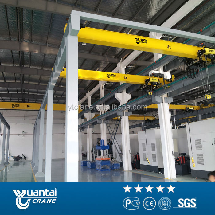Hd New Type Single Girder Overhead Crane 5 Ton With Fem and din Standard